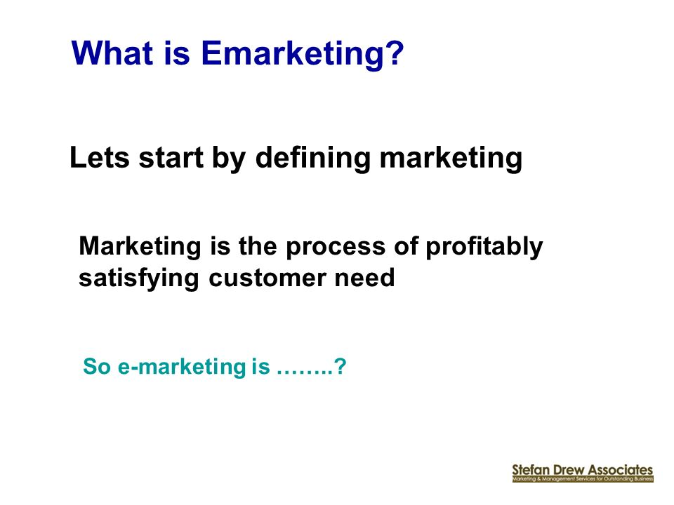 What is Emarketing.