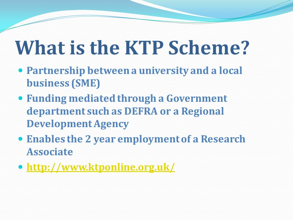 What is the KTP Scheme.