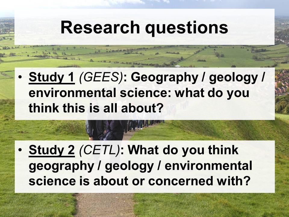 Undergrads & academic staff: geology