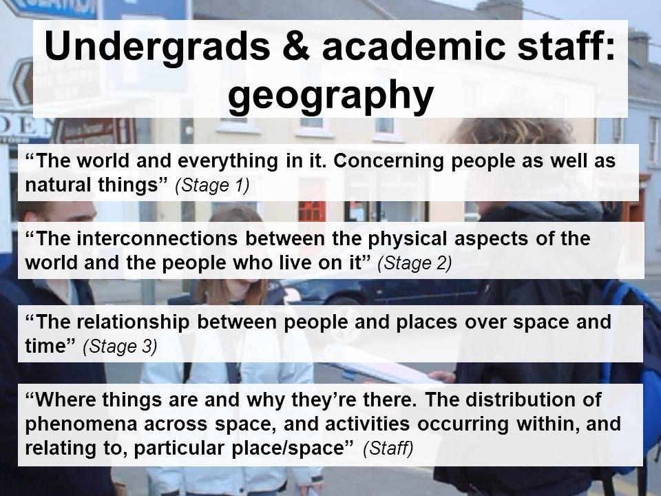 Undergrads & academic staff: environmental science