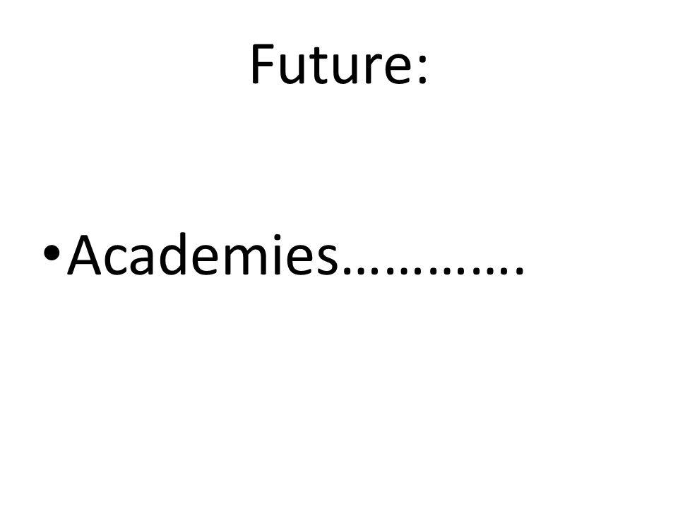 Future: Academies………….
