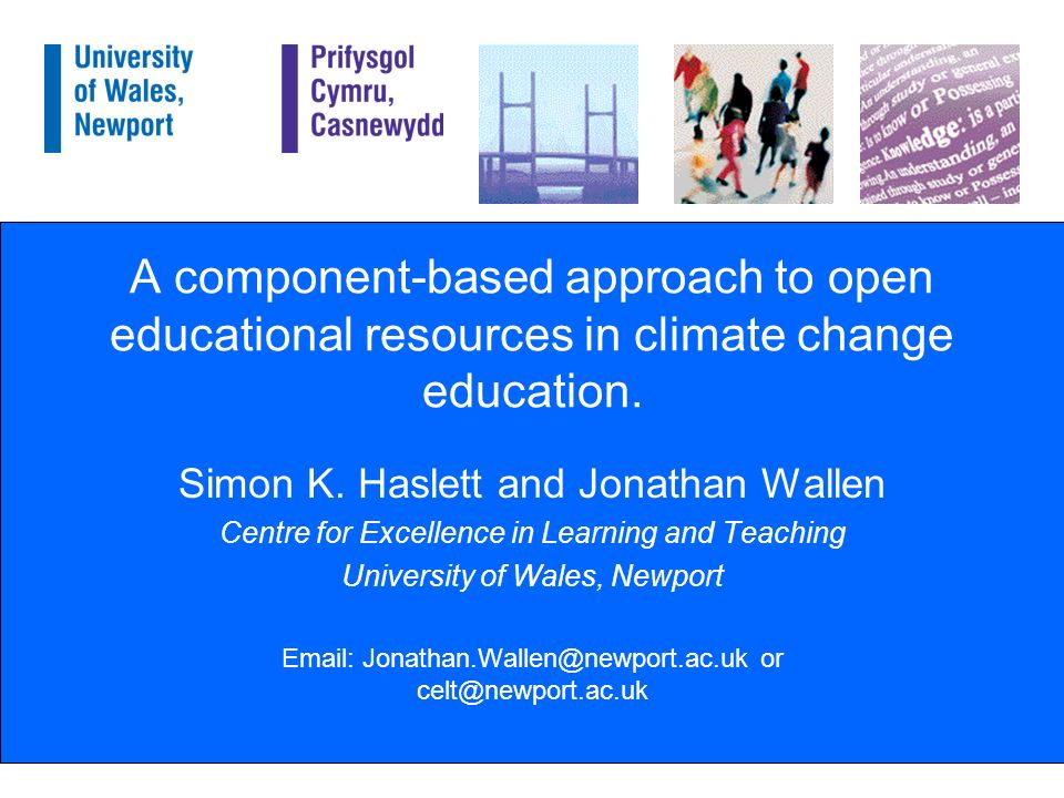 A component-based approach to open educational resources in climate change education.