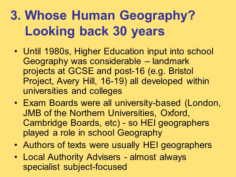 3. Whose Human Geography.