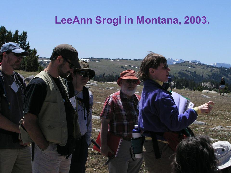 LeeAnn Srogi in Montana, 2003.