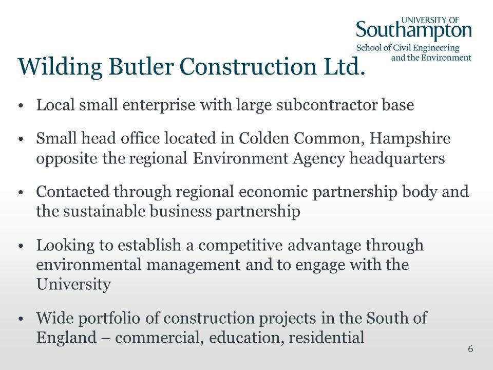 6 Wilding Butler Construction Ltd.