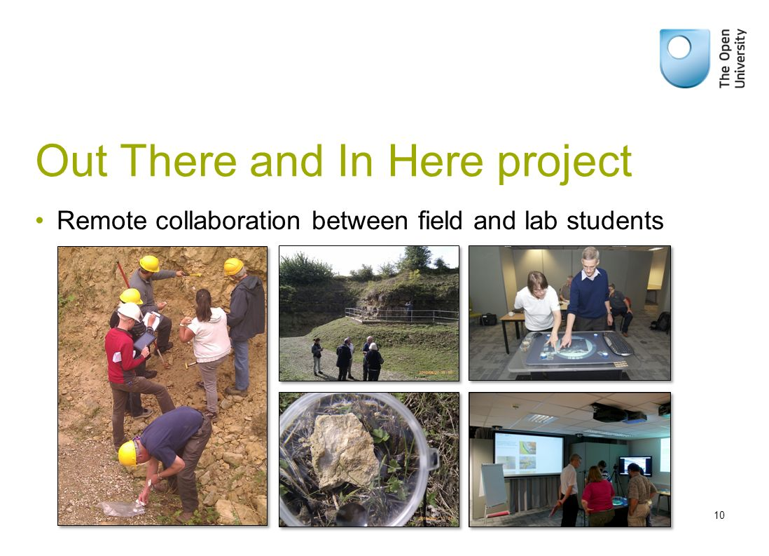 Out There and In Here project Remote collaboration between field and lab students 10