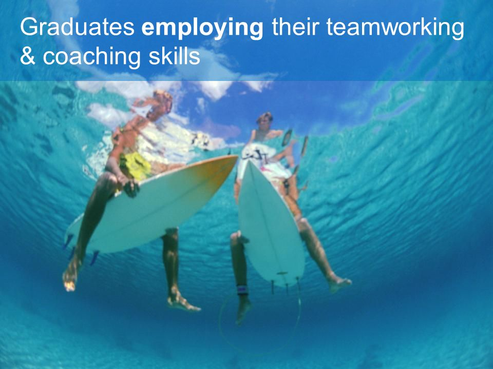 Graduates employing their teamworking & coaching skills