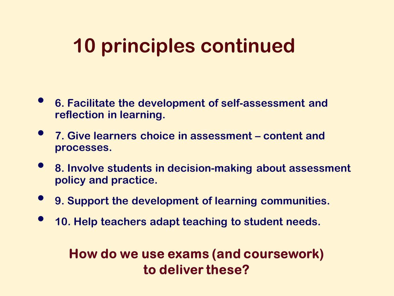 10 principles continued 6.
