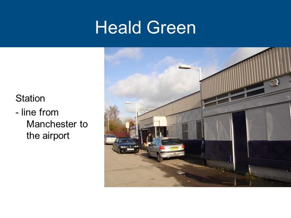 Heald Green Station - line from Manchester to the airport