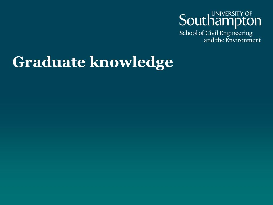 Graduate knowledge