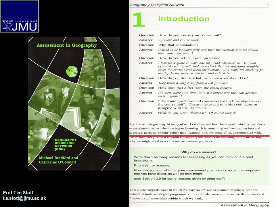Prof Tim Stott t.a.stott@ljmu.ac.uk Stott : Diversity in Level 1 Assessment at Liverpool JMU References Gibbs, G.