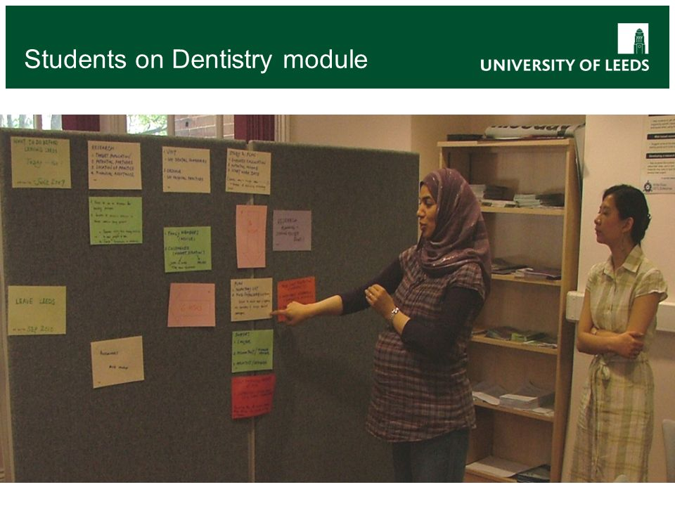 Students on Dentistry module