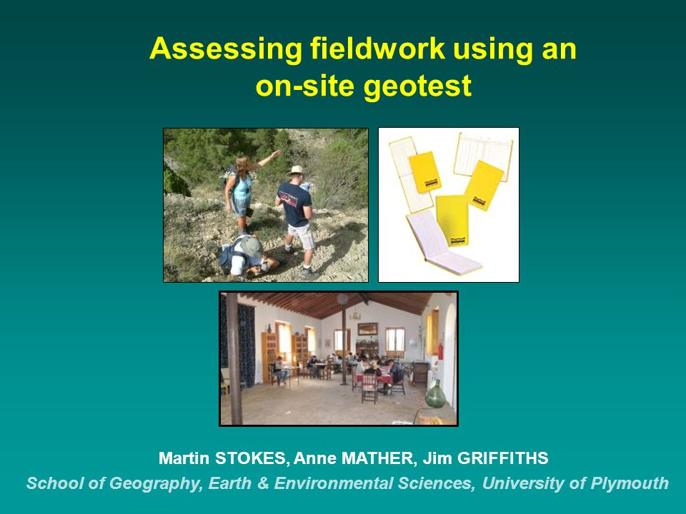 Examples of good geotest answers 2.