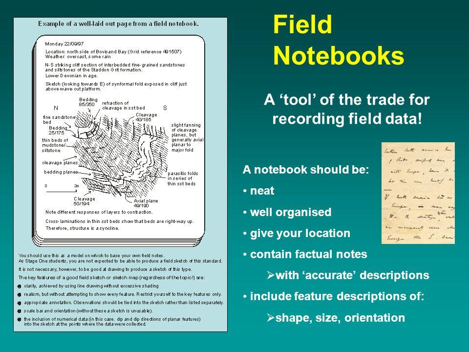 Assessment of field data using notebooks