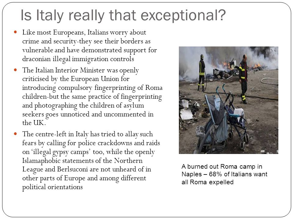 Is Italy really that exceptional.