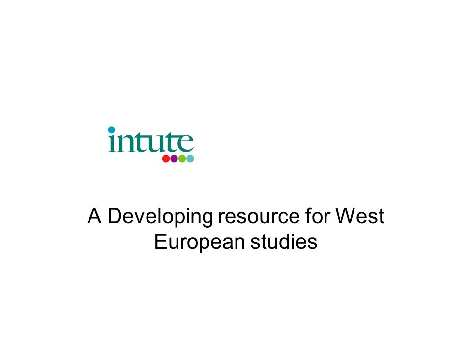 A Developing resource for West European studies