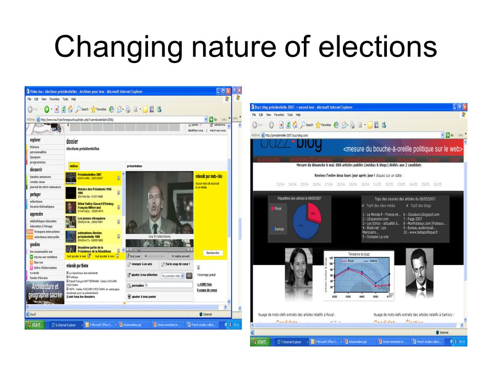 Changing nature of elections