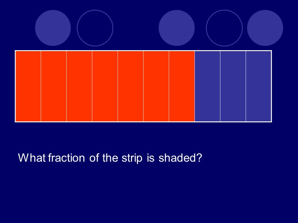 What fraction of the strip is shaded?