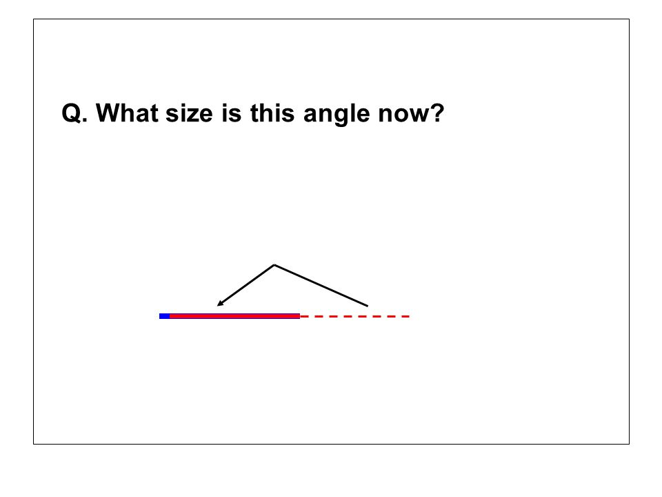 Q. What size is this angle now?