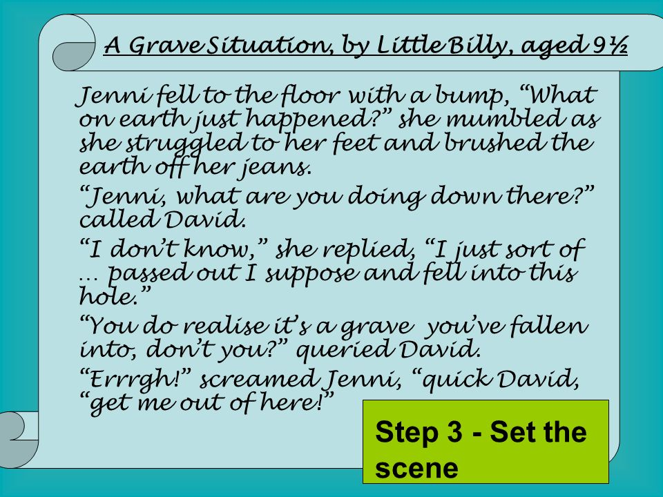 Jenni fell to the floor with a bump, What on earth just happened? she mumbled as she struggled to her feet and brushed the earth off her jeans. Jenni,