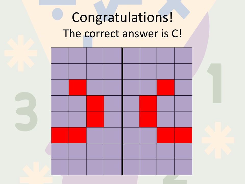 Congratulations! The correct answer is C!