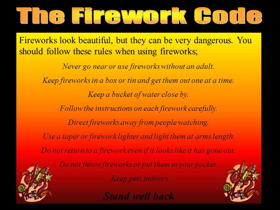 Over 130 million fireworks were sold in Britain last year Last year there were over 1500 recorded accidents involving fireworks. The majority of firew