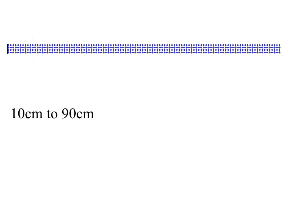 10cm to 90cm