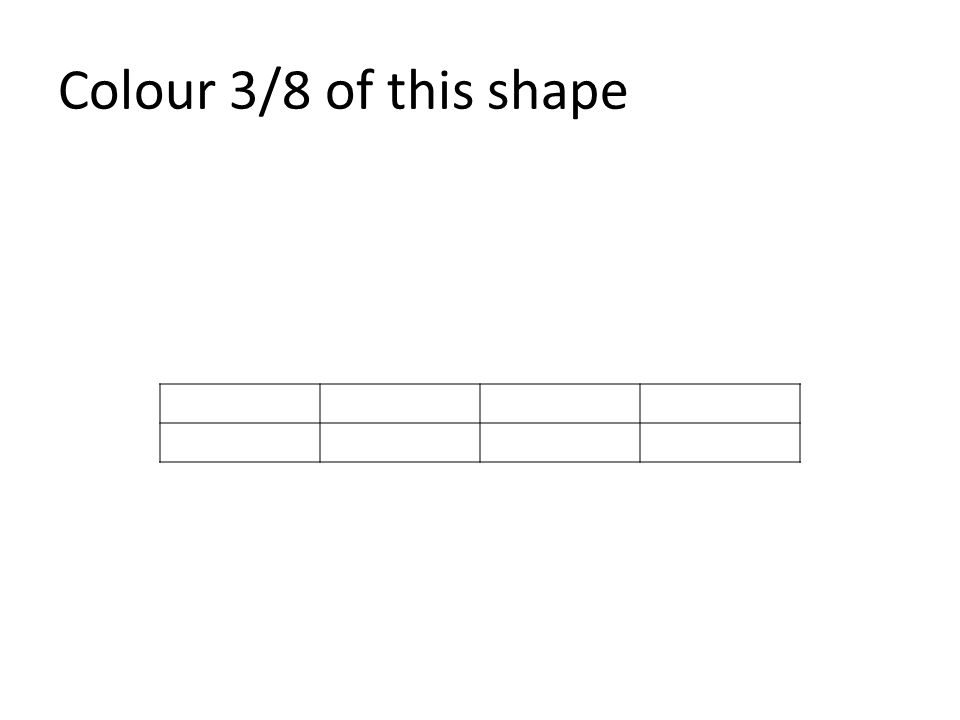 Colour 3/8 of this shape