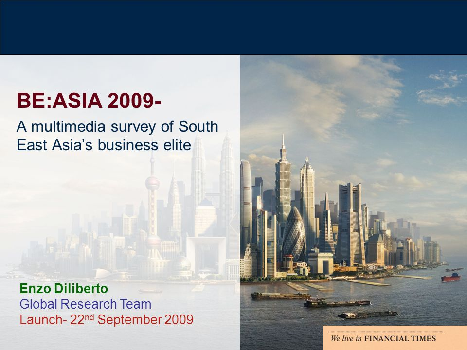 ASIA- not as affected as most regions during this economic downturn…