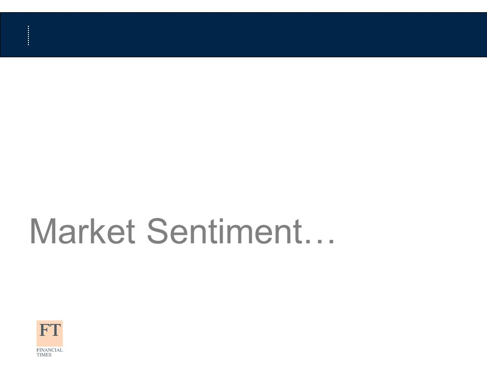 Market Sentiment…