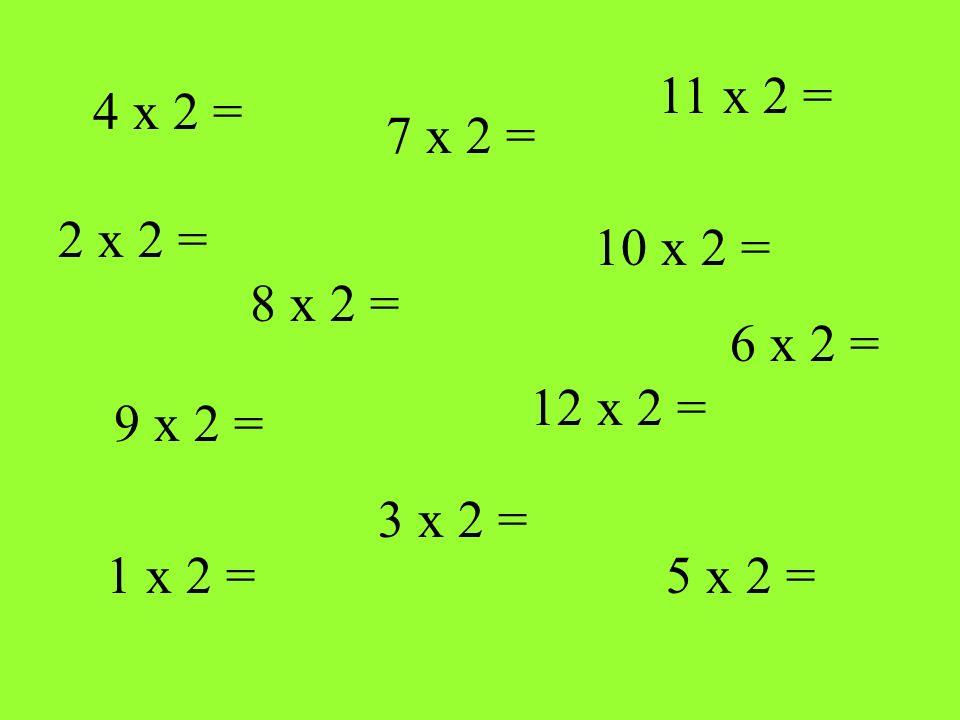 4 x 2 = 8 x 2 = 1 x 2 = 12 x 2 = 10 x 2 = 7 x 2 = 5 x 2 = 9 x 2 = 11 x 2 = 3 x 2 = 2 x 2 = 6 x 2 =