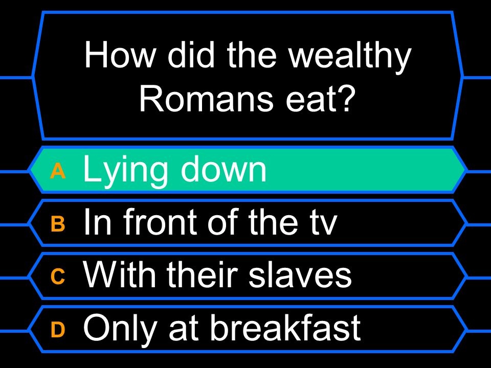 How did the wealthy Romans eat.