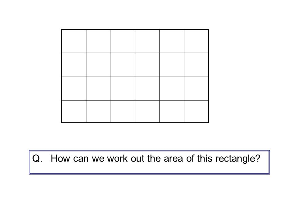 We can do it by counting the squares.