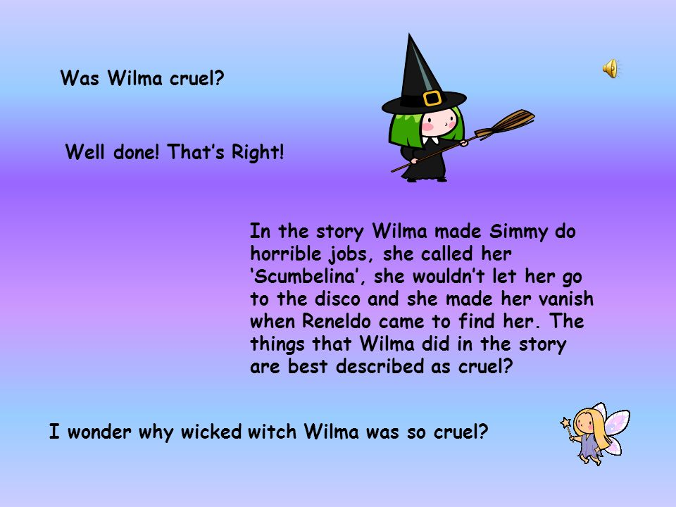 Wilma was kind. Good try.