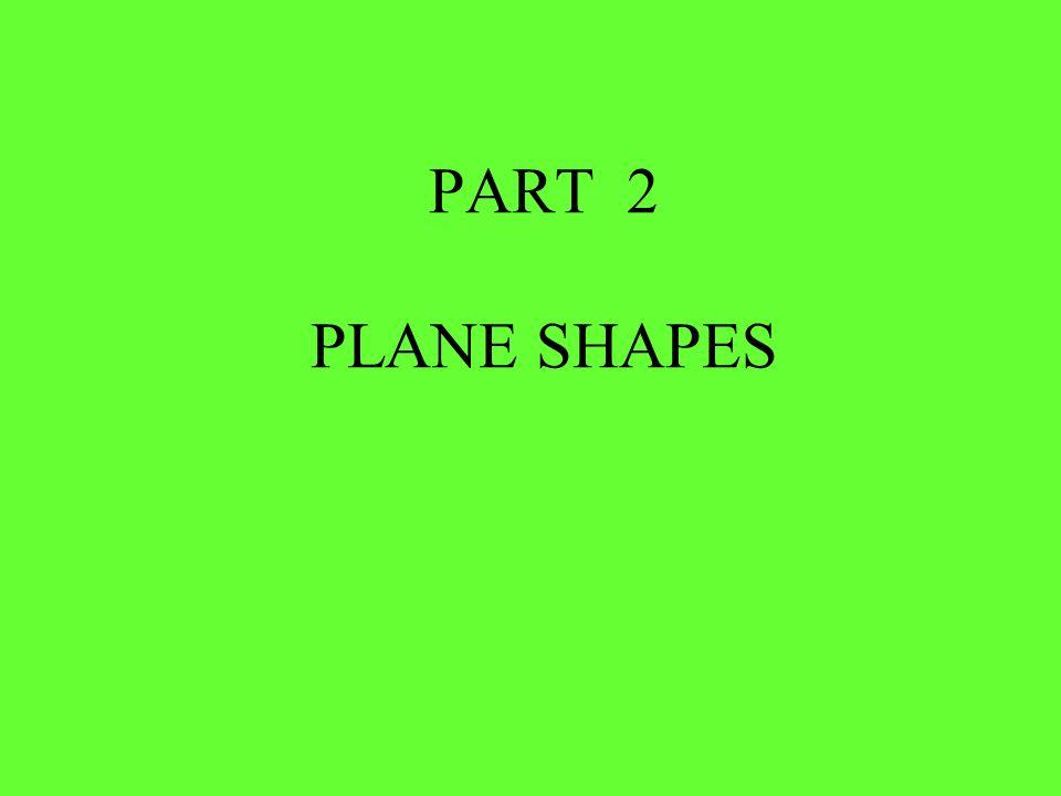 PART 2 PLANE SHAPES