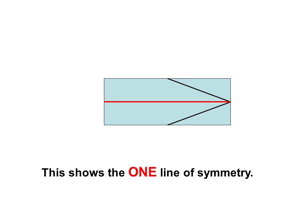 This shows the ONE line of symmetry.