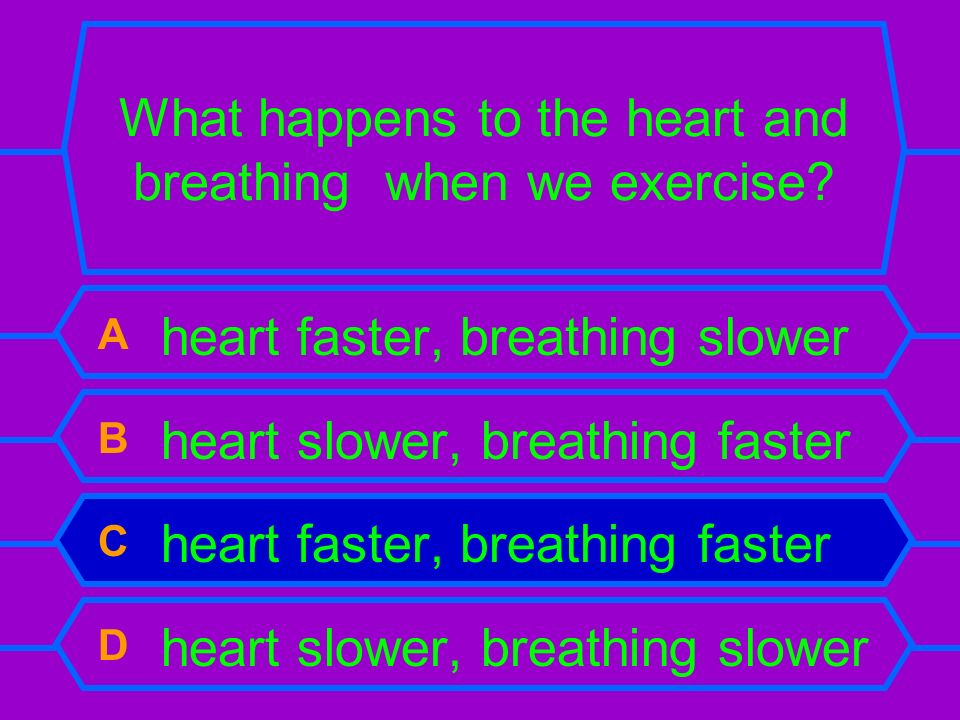 What happens to the heart and breathing when we exercise.