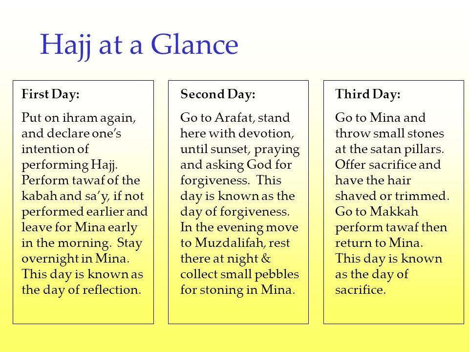 Fourth day: Stay in Mina and throw pebbles at Satan pillars.