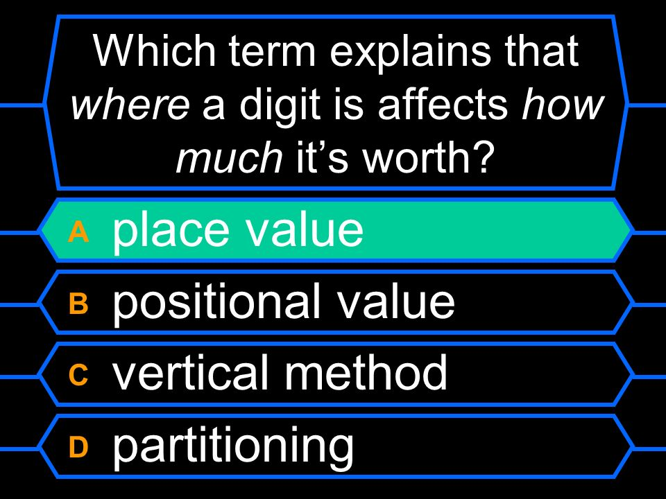 Which term explains that where a digit is affects how much its worth.