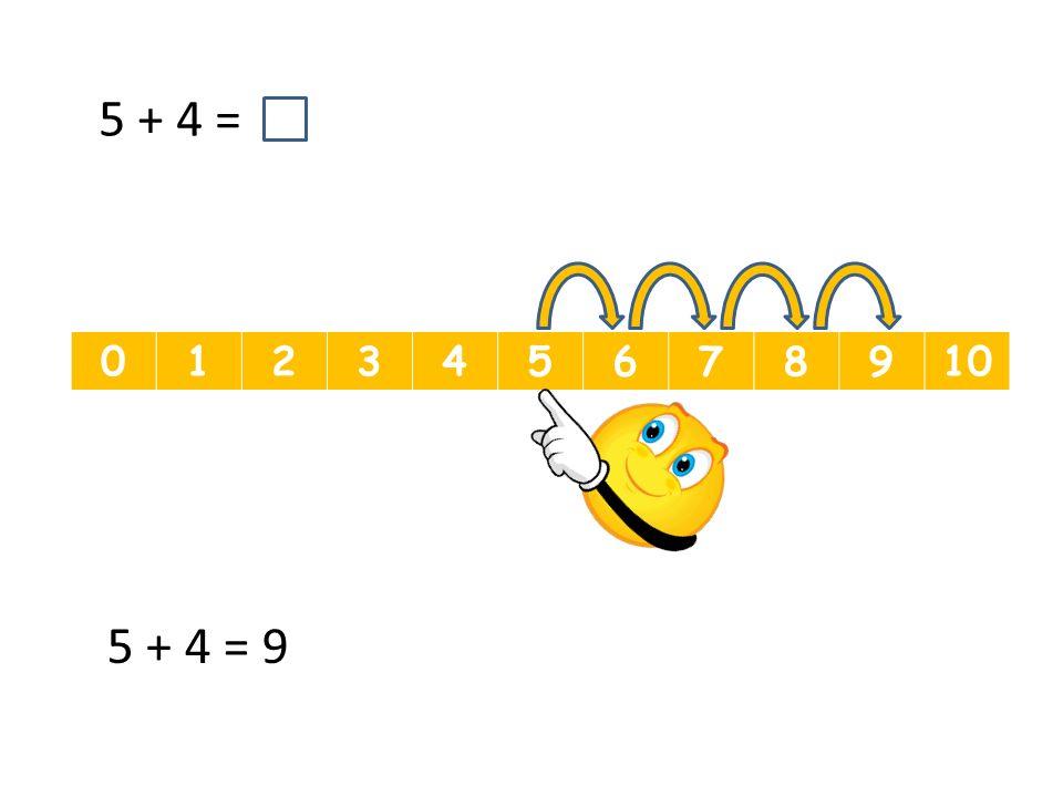 012345678910 5 + 4 = 5 + 4 = 9