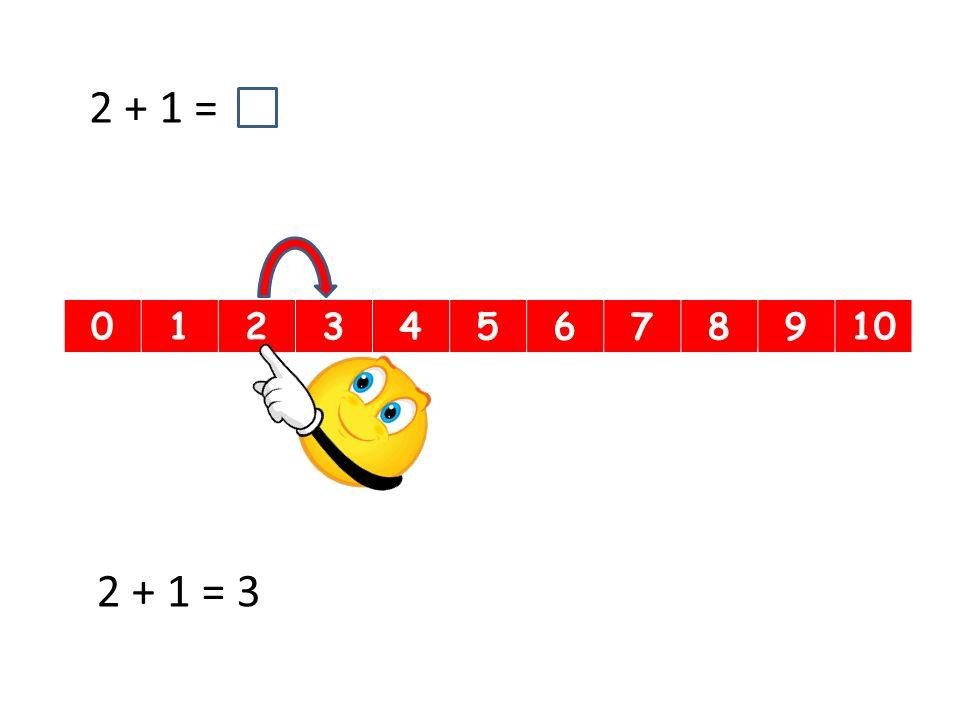 012345678910 2 + 1 = 2 + 1 = 3