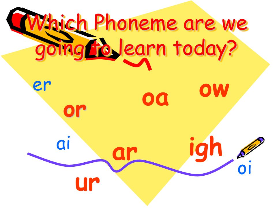 Which Phoneme are we going to learn today or oa igh ar ow ai er oi ur