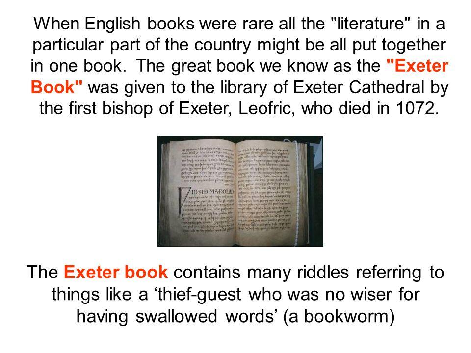 When English books were rare all the