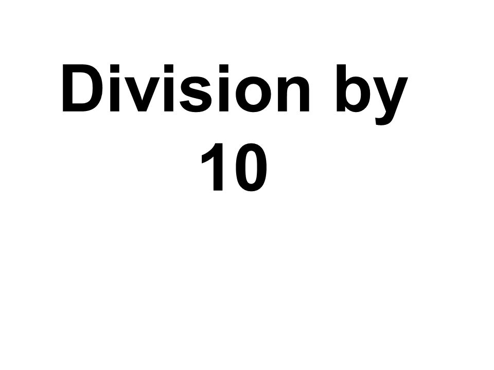 Division by 10