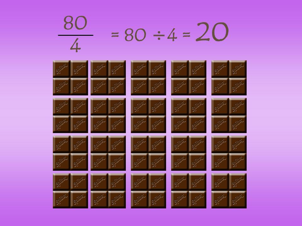 80 4 = 80 ÷4 = 20