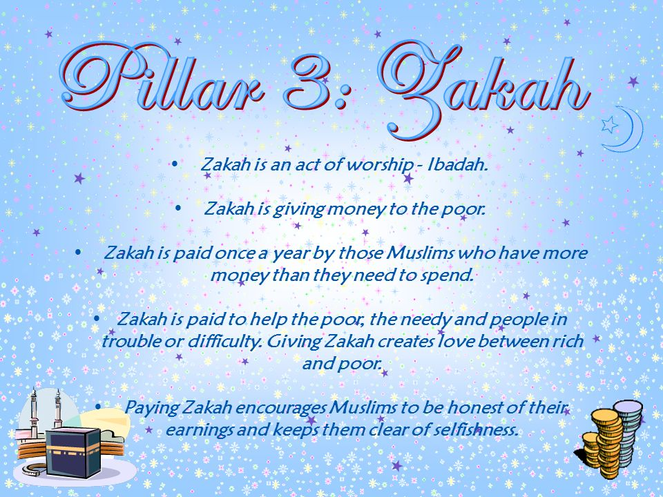 Salah is the five daily prayers which need to be offered at set times during the day. Before offering Salah Muslims need to prepare themselves by maki