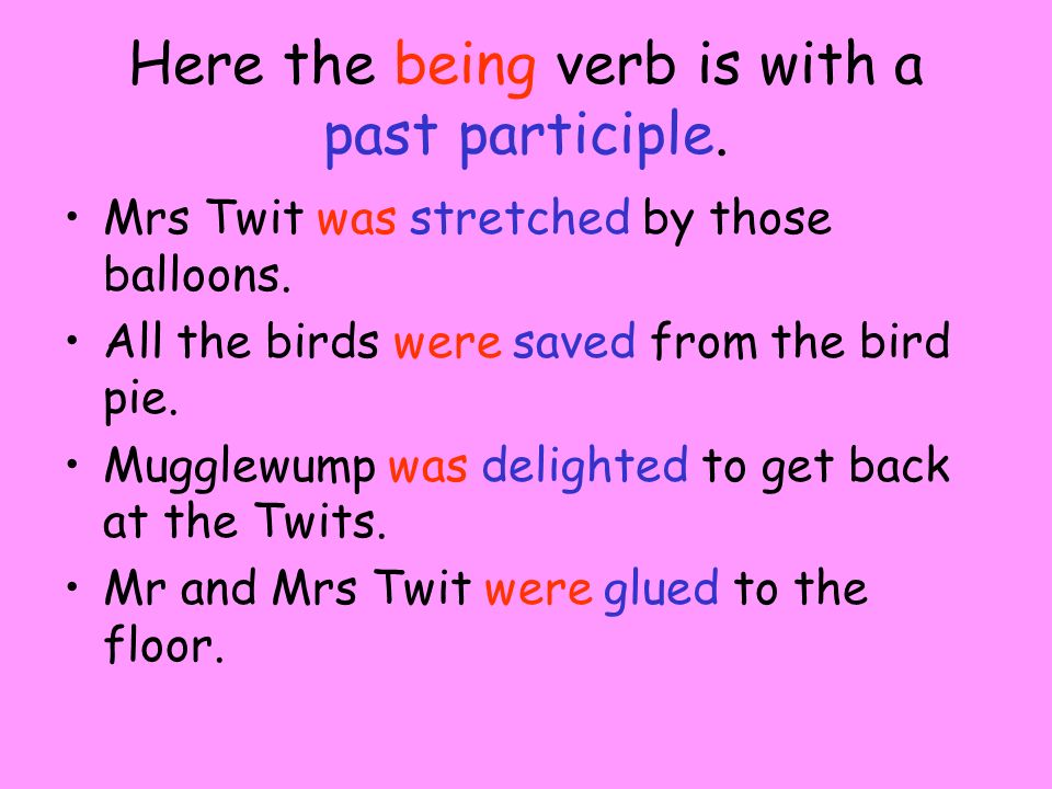 What did you notice Hint. - Remember past and present tense.