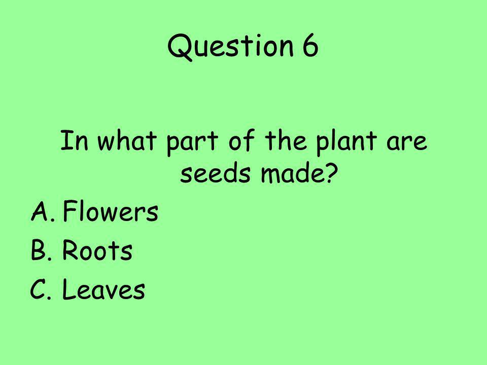 Question 14 Name three different types of soil.