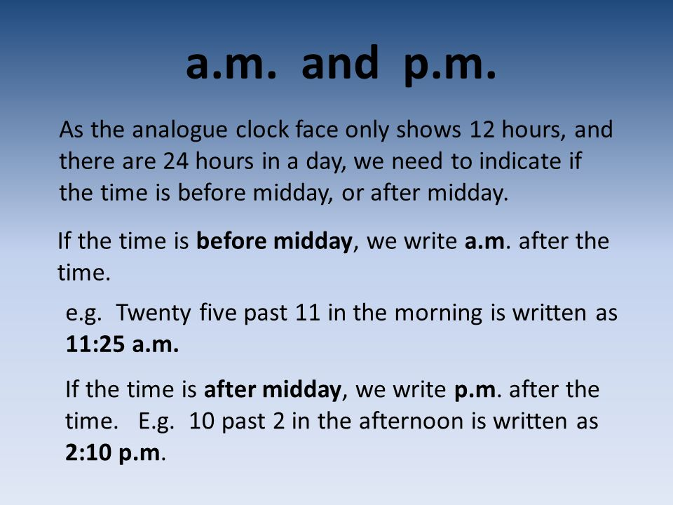 a.m.and p.m.