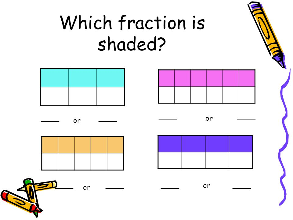 Which fraction is shaded? ____ or